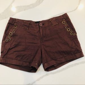2be Bebe Shorts with Grommet Detail